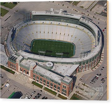 Packers Lambeau Field Wood Print by Bill Lang