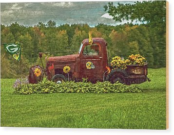 Packers Plow Wood Print
