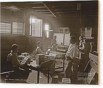 Wood Print featuring the photograph Packing Cigars Key West Florida by John Stephens