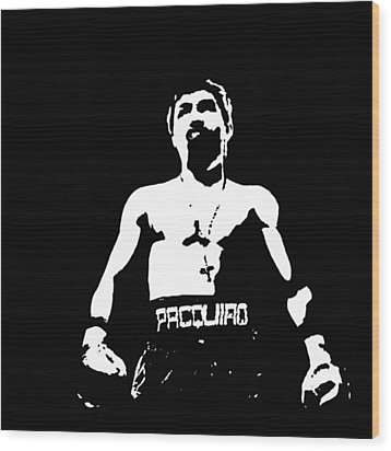 Pacquiao Wood Print by Elvin Dantes