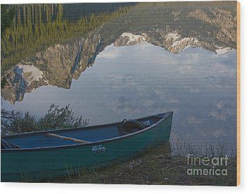 Paddle To The Mountains Wood Print by Idaho Scenic Images Linda Lantzy