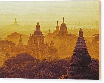 Pagodas Wood Print by Dennis Cox WorldViews