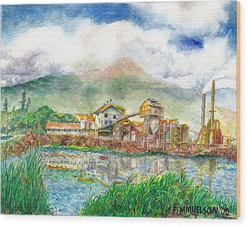 Paia Mill 1 Wood Print by Eric Samuelson