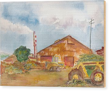 Paia Mill 3 Wood Print by Eric Samuelson