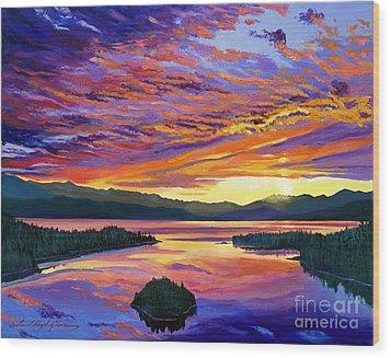 Paint Brush Sky Wood Print by David Lloyd Glover