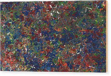 Paint Number 1 Wood Print by James W Johnson