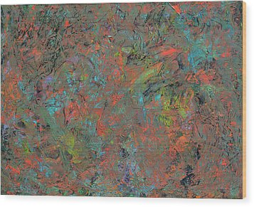 Paint Number 17 Wood Print by James W Johnson