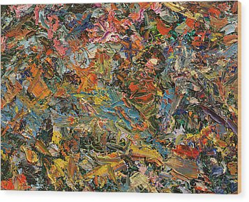 Paint Number 35 Wood Print by James W Johnson