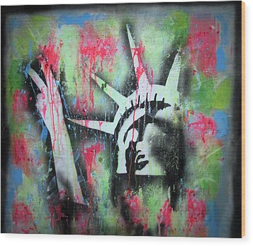 Paintball Peace Wood Print by Robert Wolverton Jr