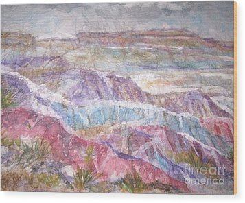 Painted Desert Wood Print by Ellen Levinson