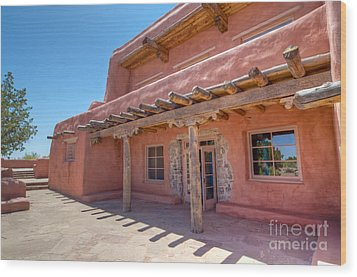 Painted Desert Inn Back Terrace Wood Print