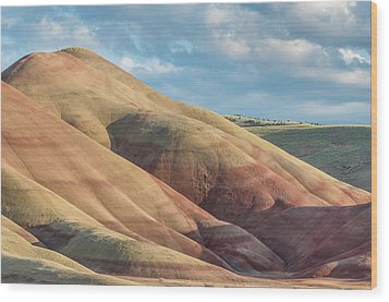 Wood Print featuring the photograph Painted Hill And Clouds by Greg Nyquist