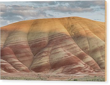 Painted Hill At Last Light Wood Print by Greg Nyquist