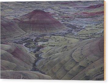 Painted Hills 2 Wood Print by Ken Dietz