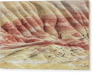 Wood Print featuring the photograph Painted Hills Landscape by Pierre Leclerc Photography
