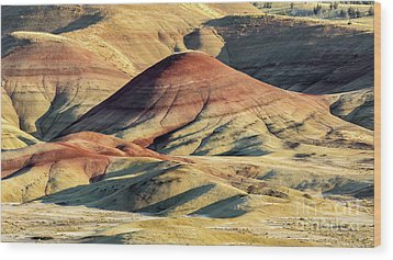 Painted Hills, Oregon Wood Print by Jerry Fornarotto