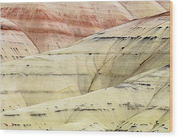 Painted Hills Ridge Wood Print by Greg Nyquist