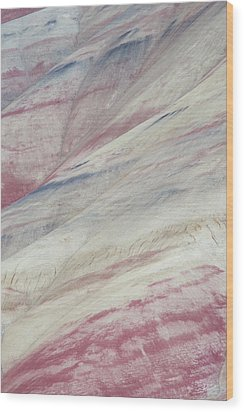 Wood Print featuring the photograph Painted Hills Textures 3 by Leland D Howard