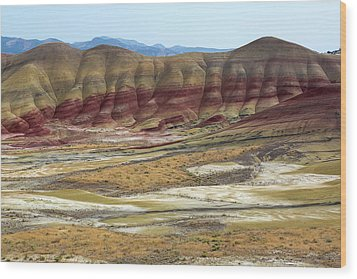 Painted Hills View From Overlook Wood Print