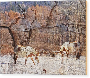 Painted Horses Wood Print
