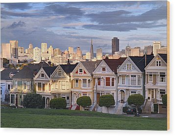 Painted Ladies In Sf California Wood Print by Pierre Leclerc Photography