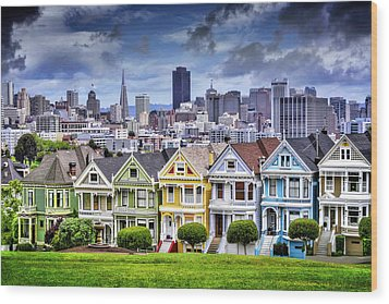 Painted Ladies Of San Francisco  Wood Print