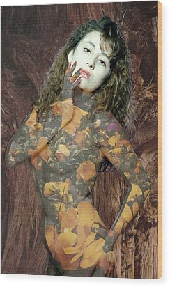 Painted Lady Wood Print by Richard Henne