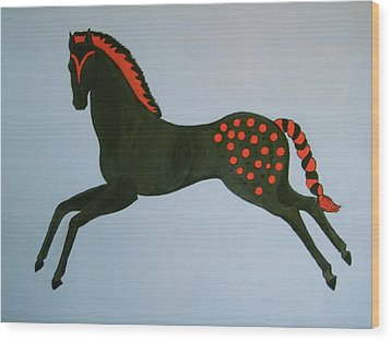 Wood Print featuring the painting Painted Pony by Stephanie Moore