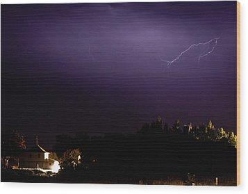 Painted Purple Wood Print by Matt Dobson