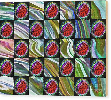 Painted Quilt Wood Print by Gwyn Newcombe