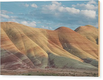 Wood Print featuring the photograph Painted Ridge And Sky by Greg Nyquist