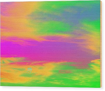 Painted Sky - Abstract Wood Print