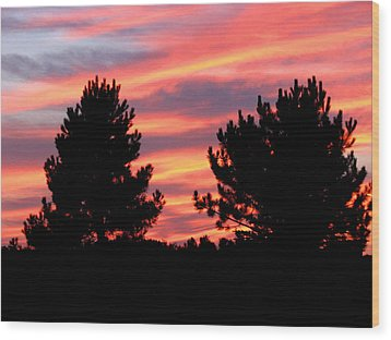 Painted Sky Wood Print