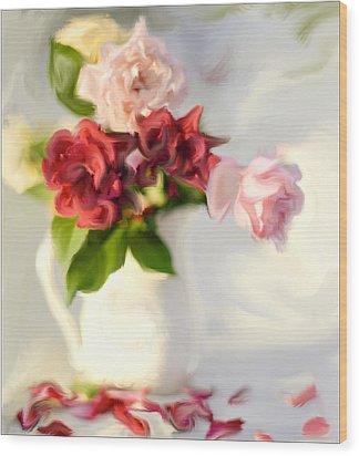 Painted Teas Wood Print by Linde Townsend