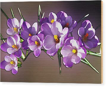 Wood Print featuring the photograph Painted Violets by John Haldane