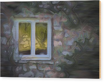 Painted Window Wood Print