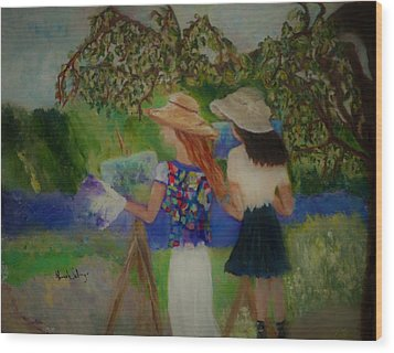 Painting In France Wood Print