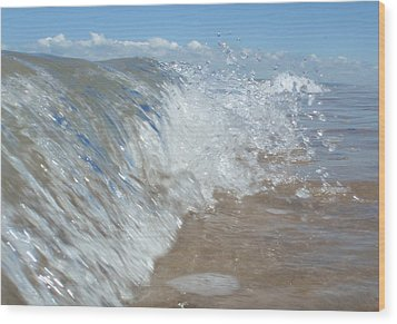 Painting With Waves Wood Print
