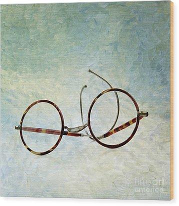 Pair Of Glasses Wood Print by Bernard Jaubert