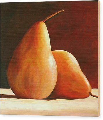 Pair Of Pears Wood Print by Toni Grote