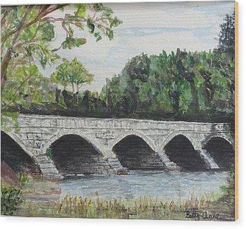 Pakenham Bridge Wood Print by Betty-Anne McDonald