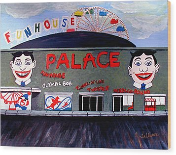 Palace Amusements Asbury Park Nj Wood Print by Norma Tolliver