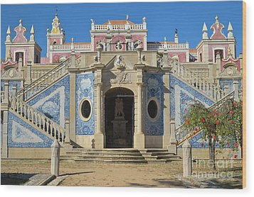 Palacio De Estoi Front View Wood Print by Angelo DeVal