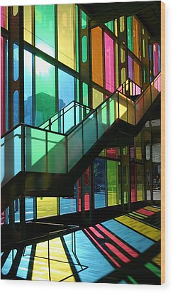 Palais Des Congres Montreal Canada Wood Print by Pierre Leclerc Photography