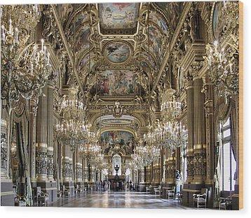 Palais Garnier Grand Foyer Wood Print by Alan Toepfer