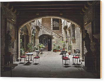 Wood Print featuring the photograph Palau Dalmases Espai Barroc by Marek Stepan