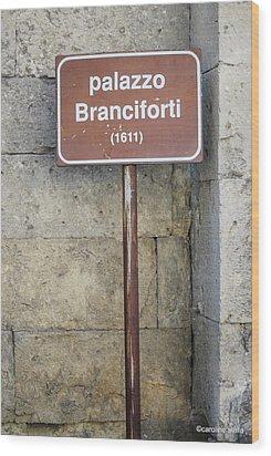 palazzo Branciforte 1611 Wood Print