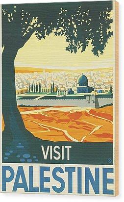 Palestine Wood Print by Georgia Fowler
