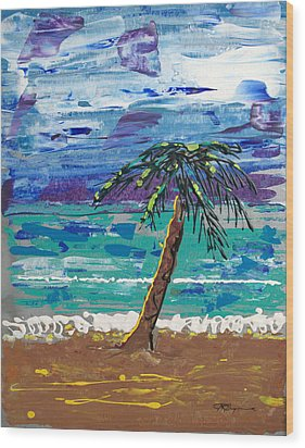 Wood Print featuring the painting Palm Beach by J R Seymour