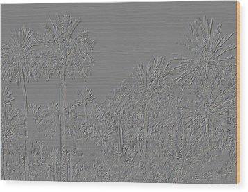Palm Grove Wood Print